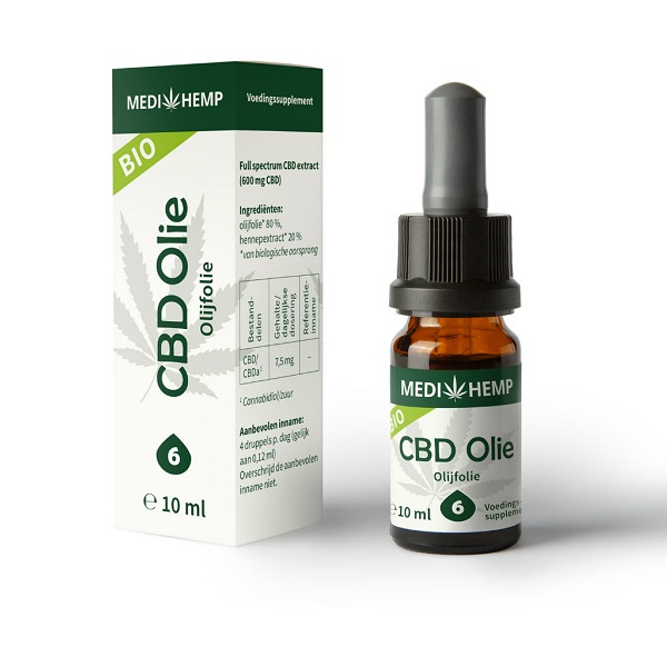 Medihemp CBD Olie Raw – (olijfolie) 10 Ml – 6% – 600 Mg