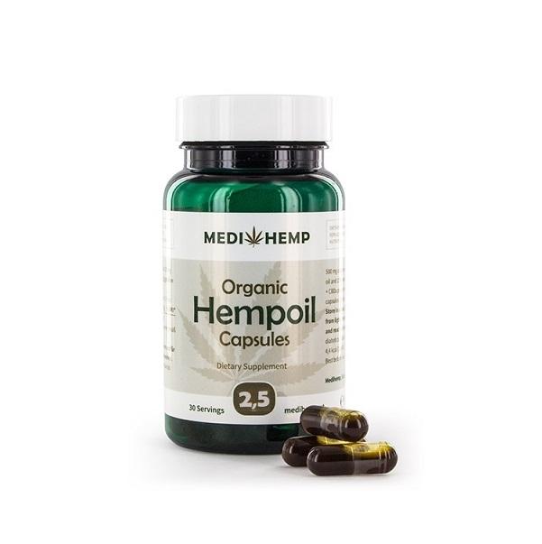 Medihemp CBD Capsules 12,5 Mg (Raw) – 375 Mg