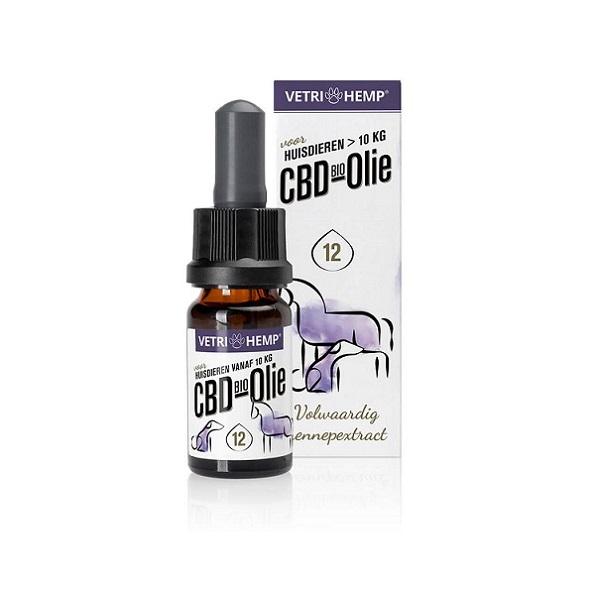 VetriHemp CBD Olie 12% Voor Grote Honden >10 Kg – 10 Ml – 1200 Mg