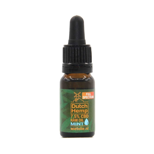 Dutchhemp CBD Olie RAW – 10 Ml – 7,5% – 750 Mg – Pepermunt