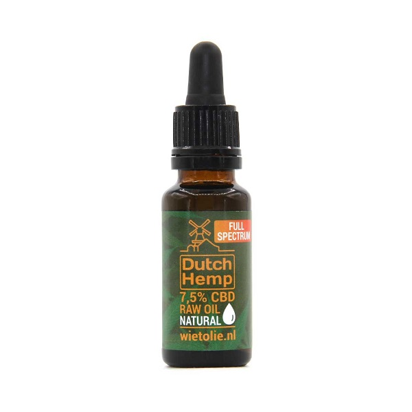 Dutchhemp CBD Oil RAW - 20 ml - 7,5% - 1500 mg - natürlich