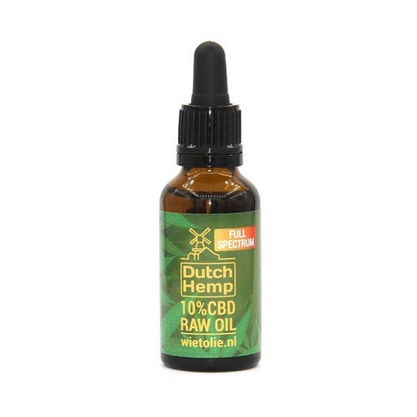 Dutchhemp CBD Olie RAW – 30 Ml – 10% – 3000 Mg