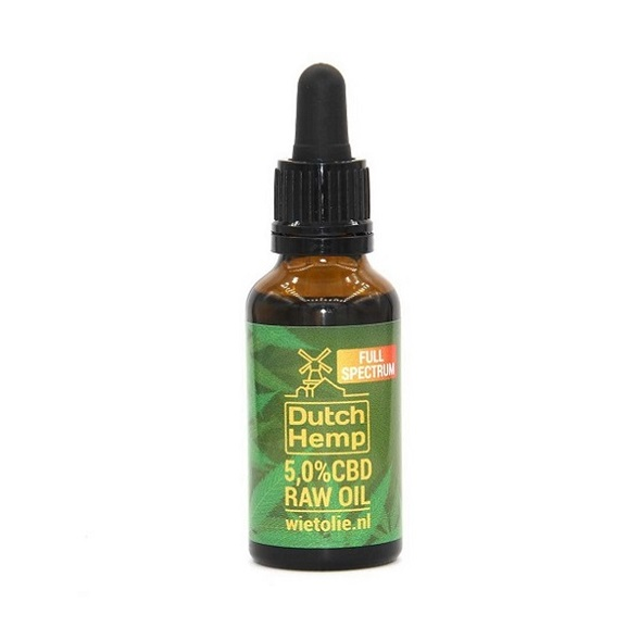 Dutchhemp CBD Olie RAW – 30 Ml – 5% – 1500 Mg
