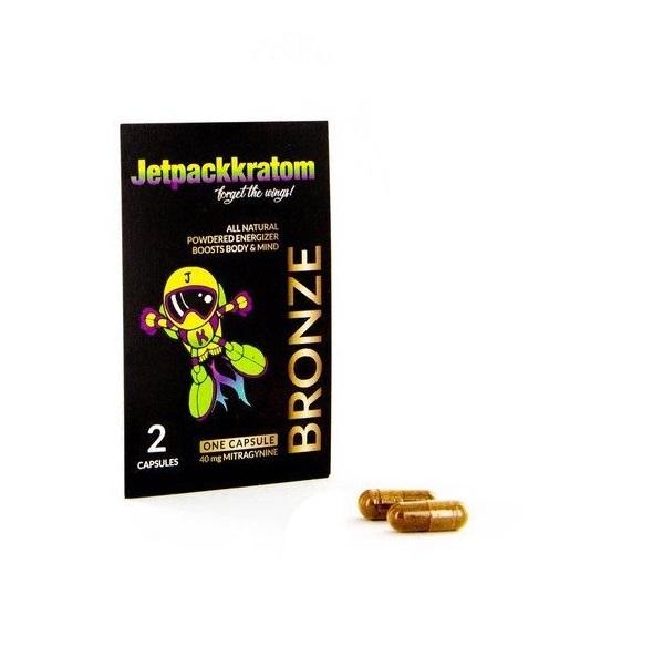 JetpackKratom Kratom Capsules Bronze – 40 Mg