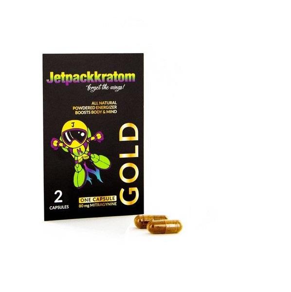 JetpackKratom Kratom Capsules Gold – 80 Mg