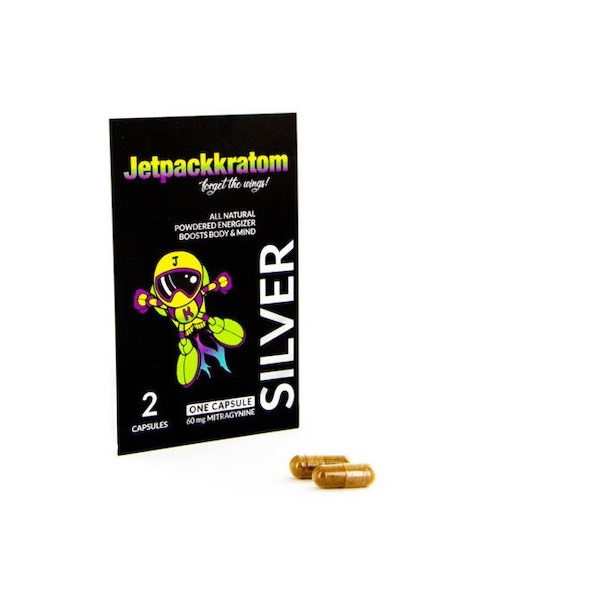 JetpackKratom Kratom Capsules Silver – 60 Mg