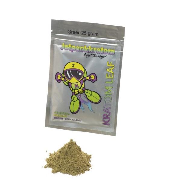 JetpackKratom Kratom Poeder Groen – 25 Gram