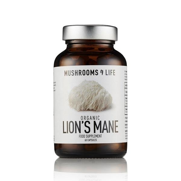 Mushrooms4Life - Fungo biologico Lion's Mane - 60 Capsule