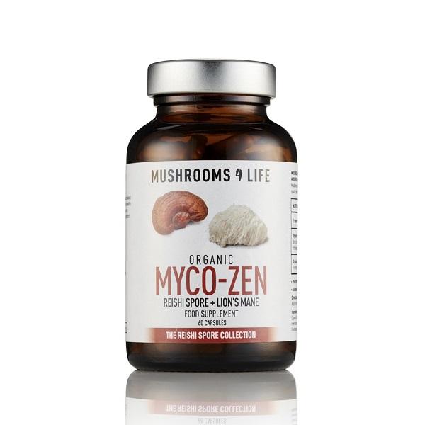 Mushrooms4Life - MyCo-Zen Organic Mushroom - 60 Capsule