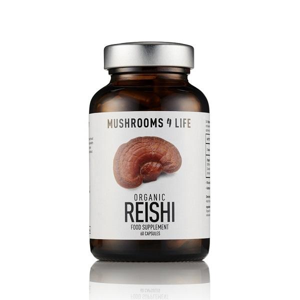 Mushrooms4Life - Reishi Organic Mushroom - 60 Capsule