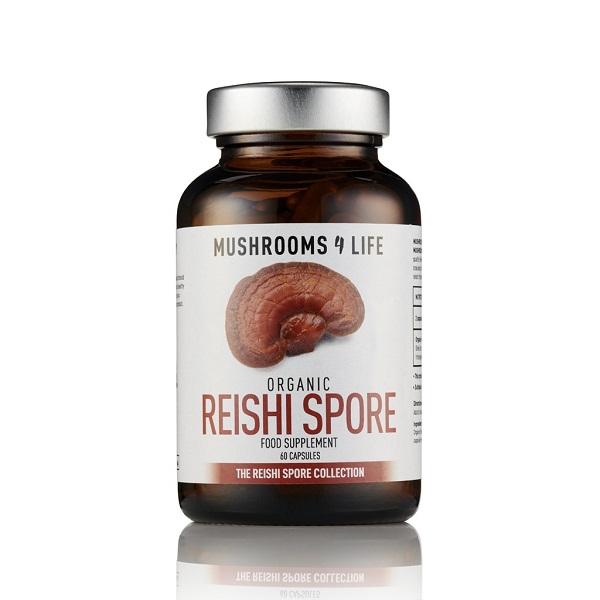 Mushrooms4Life - Reishi Spore Organic Mushroom - 60 Capsule