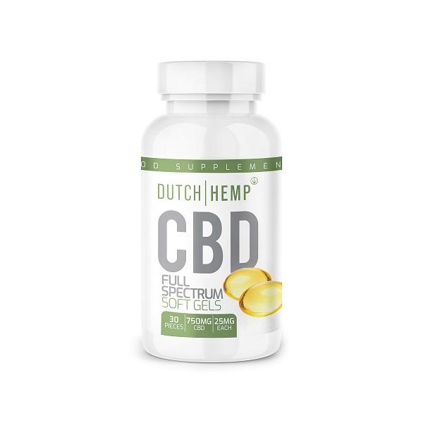 Capsules de CBD de chanvre hollandais - 30 pièces - 750 mg