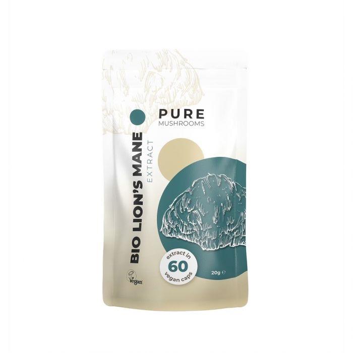 Pure Mushrooms Lion's Mane Mushrooms Organic – 60 Capsules