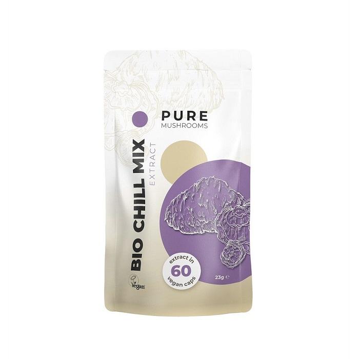 Pure Mushrooms Pure Chill Mix Mushrooms Organic – 60 Capsules