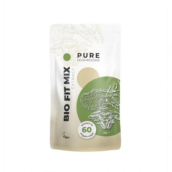 Pure Mushrooms Pure Fit Mix Mushrooms Organic – 60 Capsules