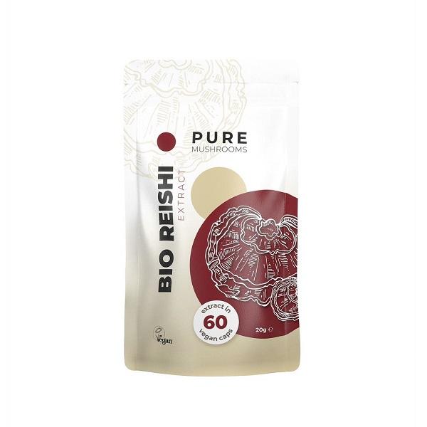 Pure Mushrooms Reishi Mushrooms Organic – 60 Capsules