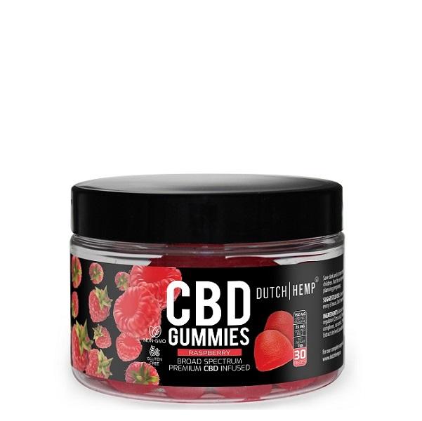 Dutch Hemp CBD Gummies 25 Mg – 30 Stuks – 750 Mg (raspberry – Broad Spectrum)