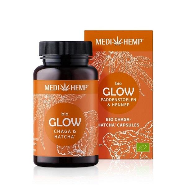 Medihemp (Glow) Chaga Paddenstoelen Bio – 120 Capsules